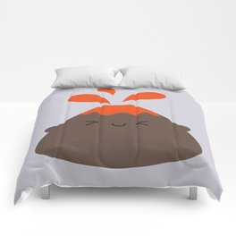 Happy Kawaii Volcano Comforters