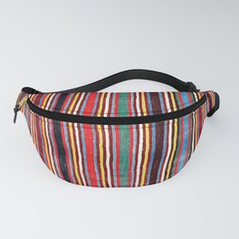 Qashqa'i Antique Fars Southwest Persia Striped Kilim Print Fanny Pack