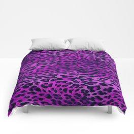 Purple Tones Leopard Skin Camouflage Pattern Comforters
