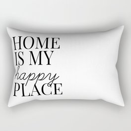 home is my happy place Rectangular Pillow