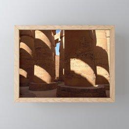 Columns in Karnak Temple (Egypt) Framed Mini Art Print