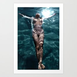 Sienna - Natural pool Art Print