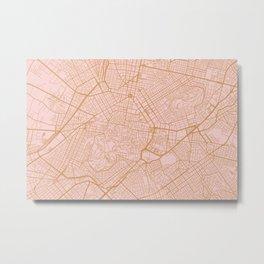 Athens map Metal Print