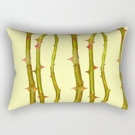 THORN BUSH CANES ABSTRACT IN YELLOW ART Rectangular Pillow