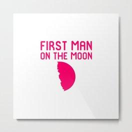 First Man on the Moon Fun 1969 50th Anniversary Metal Print