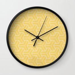 Abstract Geometric Pattern - Yellow Wall Clock