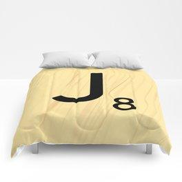 Scrabble J Decor, Scrabble Art, Large Scrabble Tile Initials Comforters