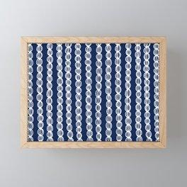 White Strings Framed Mini Art Print
