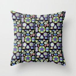 Ernst Hackel Diatomea Diatoms Throw Pillow