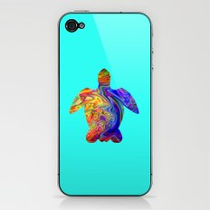 Psychedelic Sea Turtle iPhone & iPod Skin