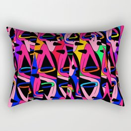Shattered 1980's Rectangular Pillow