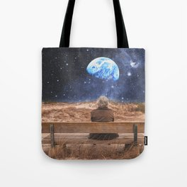 PLANET EARTH, THE UNIVERSE AND I Tote Bag