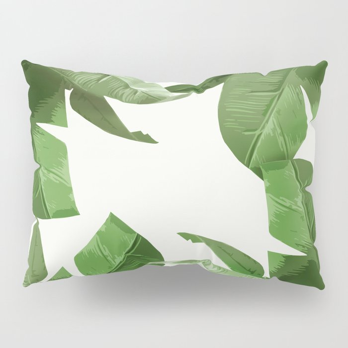 Tropical Palm Print Treetop Greenery Pillow Sham