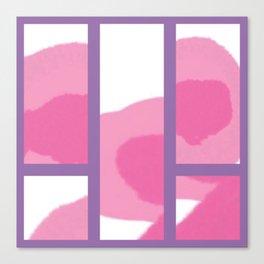 Expressive Windows of Purple Canvas Print