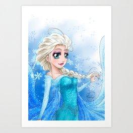 Elsa - Frozen - La Reine des neiges Art Print