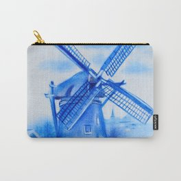 Drawing Delft-Style Windmill Carry-All Pouch