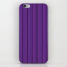 Purple Double Stripes Pattern iPhone & iPod Skin