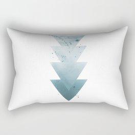 Blue Triangles. Rectangular Pillow
