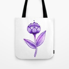 Lotus Be Purple Tote Bag