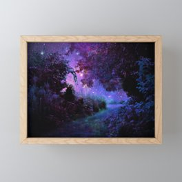 Fantasy Path Purple Framed Mini Art Print