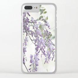 Wisteria Lavender Clear iPhone Case