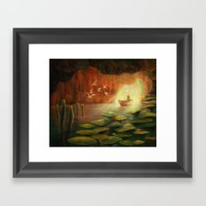 Into the Cave Framed Art Print
