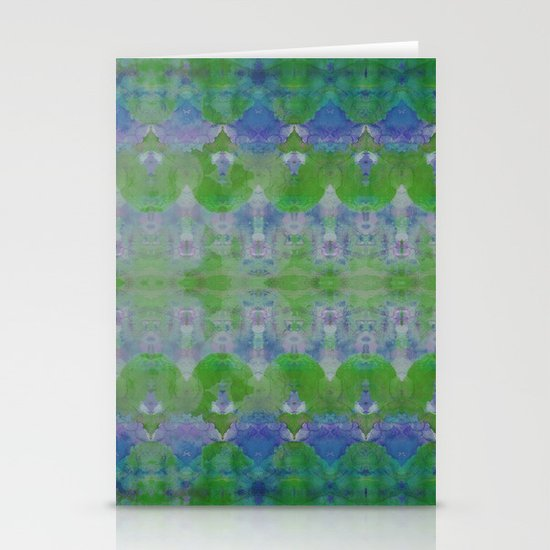 Watercolour Tribal Green Stationery Cards