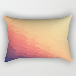 Orange Peach Ombre Rectangular Pillow