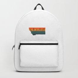 Montana State Tree Silhouette Backpack