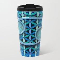 Flower of Life CANCER Astrology Design Metal Travel Mug