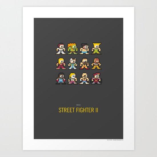 Mega Street Fighter II Art Print