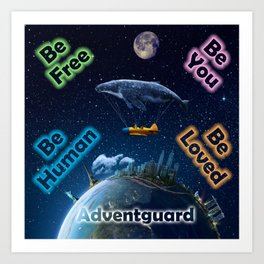 Advent Guard Earth Tranquil Whale Aspect Art Print