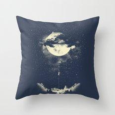 MOON CLIMBING Throw Pillow