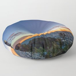Portland Maine Head Light Dawn Floor Pillow
