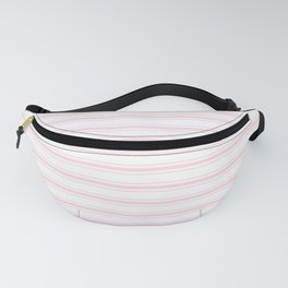Wide Pastel Pink and White Mattress Ticking Fanny Pack