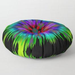 abstract glitch 3d flower Floor Pillow