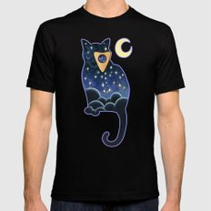 Ouija Cat Mens Fitted Tee MEDIUM Black