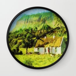 An Irish Idyll Wall Clock