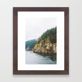Ferry to Victoria, BC Framed Art Print