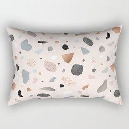 Terrazzo Stone Confetti blush Rectangular Pillow