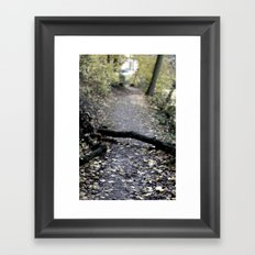 something in the way. Framed Art Print