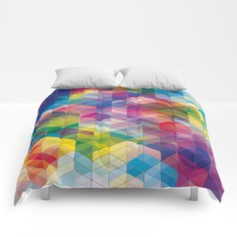 Cuben Curved #7 Comforters