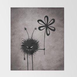 Evil Flower Bug Throw Blanket