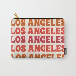 Los Angeles - retro vibes throwback minimal typography 70s colors 1970's LA Carry-All Pouch