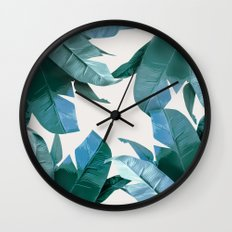 Tropical Palm Print - #4 Wall Clock