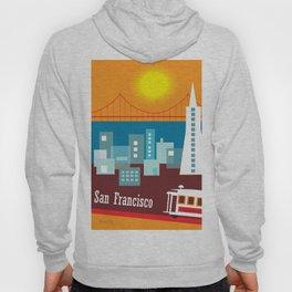 San Francisco, California - Skyline Illustration by Loose Petals Hoody