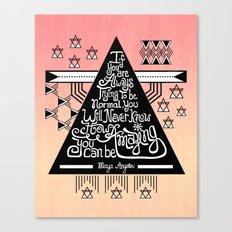 Be amazing Canvas Print