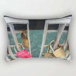 Padlock Bridge Rectangular Pillow