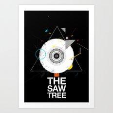 The saw tree Art Print