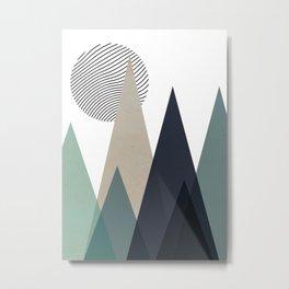 Scandinavian Moon Metal Print